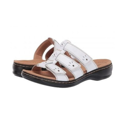 Clarks クラークス レディース 女性用 シューズ 靴 サンダル Leisa Spring - White Leather