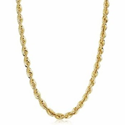Solid 14k Yellow Gold Filled Rope Chain Necklace (6 mm, 26 inch)
