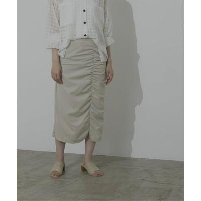 titivate / シャーリングデザインロングスカート WOMEN スカート > スカート