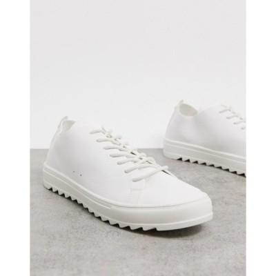 プルアンドベアー メンズ スニーカー シューズ Pull&Bear sneakers in white