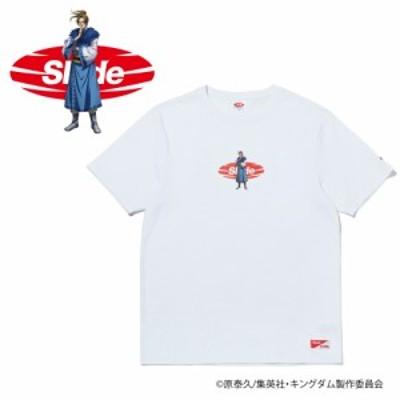 スライド(SLYDE)キングダム RIBOKU (李牧) ロゴ 半袖Tシャツ SL-KINGDOM106-wht オンライン価…