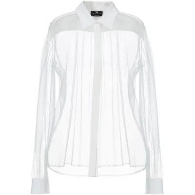 ELISABETTA FRANCHI シャツ ホワイト 42 ポリエステル 100% / レーヨン シャツ
