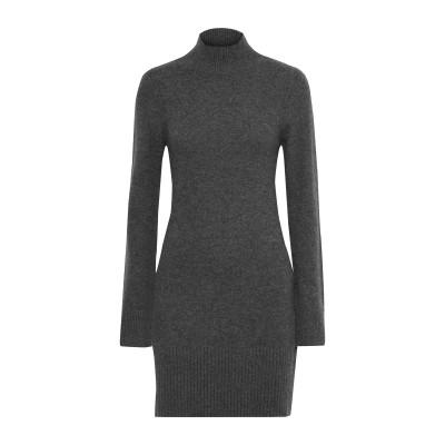 フレームデニム FRAME ミニワンピース&ドレス グレー XL カシミヤ 100% ミニワンピース&ドレス