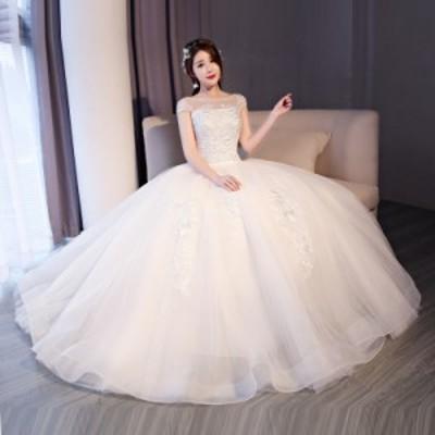 結婚式 披露宴 ウエディングドレス パーティー ドレス 安い 可愛い ブライズメイド ブライダル プリンセス フェミニン 純白