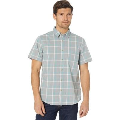 ドッカーズ Dockers メンズ 半袖シャツ トップス Short Sleeve Modern Fit Supreme Flex Washed Poplin Shirt Wet Stone