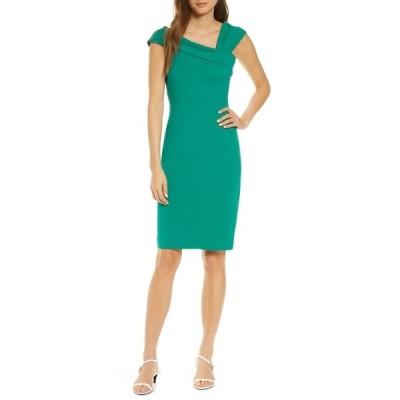 ヴィンスカムート レディース ワンピース トップス Asymmetrical Bodycon Dress GREEN