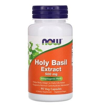 ホーリーバジルエキス、500 mg、90植物性カプセル