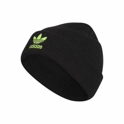 アディダスオリジナルス メンズ 帽子 アクセサリー Originals Trefoil Beanie Black/Signal Green
