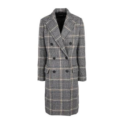 LAUREN RALPH LAUREN コート ブラック 2 ウール 76% / ナイロン 24% コート
