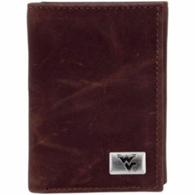 Eagles Wings イーグルス ウイングズ スポーツ用品  West Virginia Mountaineers Leather Trifold Wallet - Brown