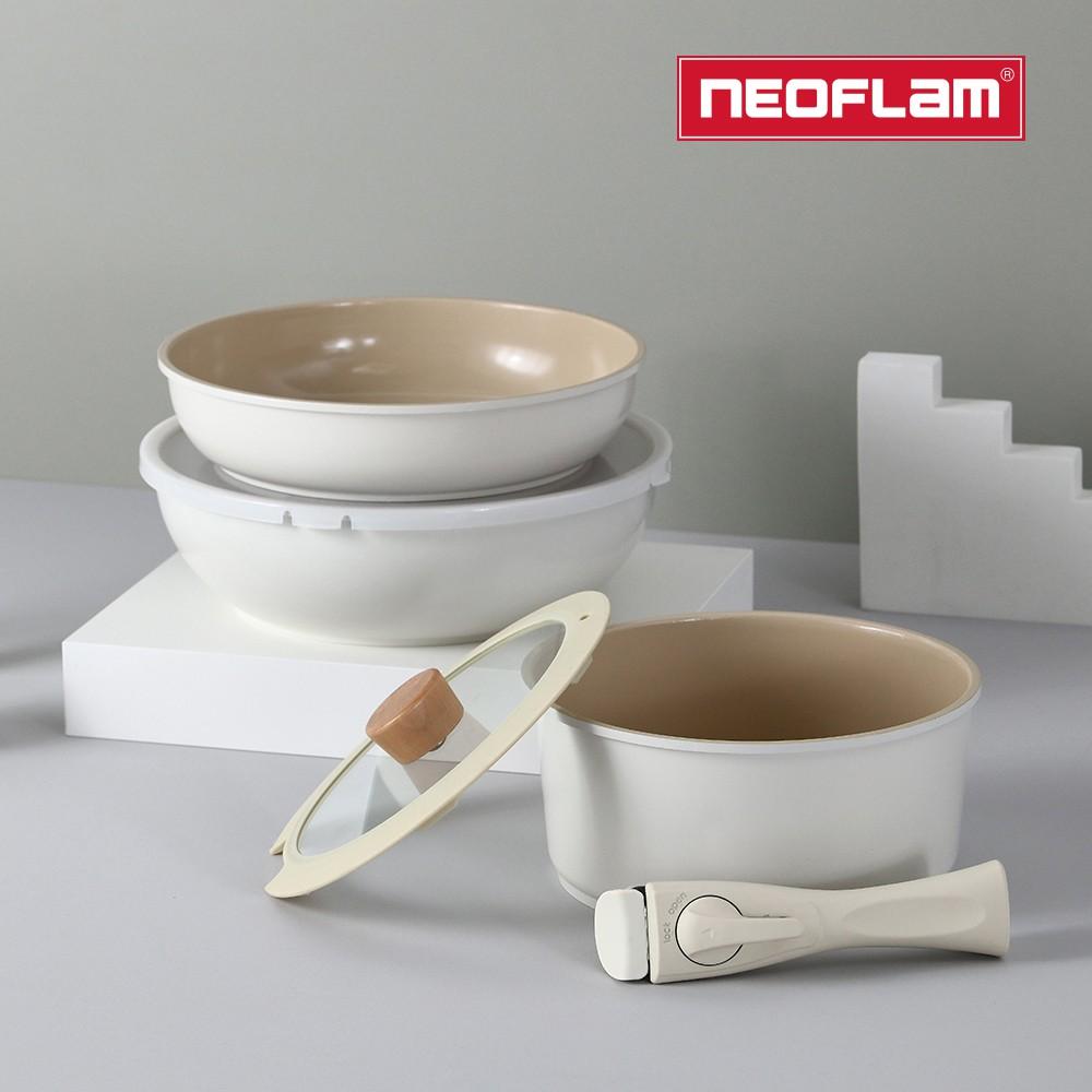 NEOFLAM FIKA Midas Plus陶瓷塗層鍋具7件組(IH爐適用/不挑爐具/可直火)