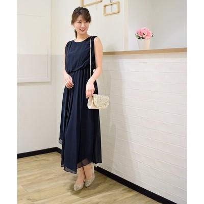 【エイミーパール(ドレス)】バックチェーン付ロングドレス