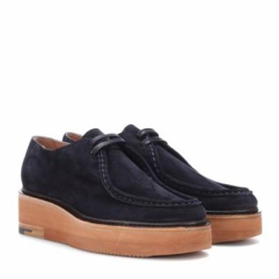 ドリス ヴァン ノッテン Dries Van Noten レディース ローファー・オックスフォード シューズ・靴 Suede platform loafers Navy