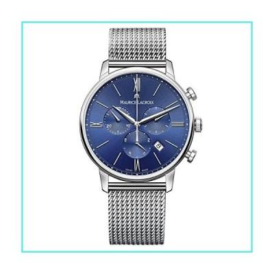 【新品】Maurice Lacroix Men's Eliros Swiss-Quartz Watch with Stainless-Steel Strap, Silver (Model: EL1098-SS002-410-2)(並行輸入品)