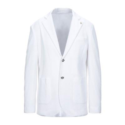 イレブンティ ELEVENTY テーラードジャケット ホワイト M リネン 74% / コットン 26% テーラードジャケット