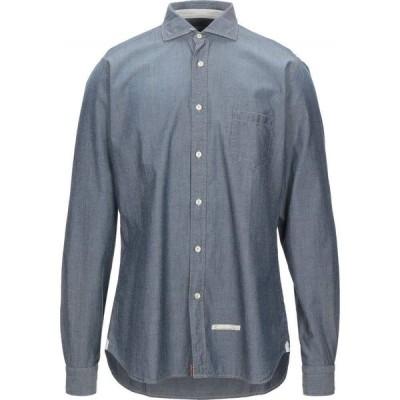 ティントリア マッティ TINTORIA MATTEI 954 メンズ シャツ トップス solid color shirt Blue