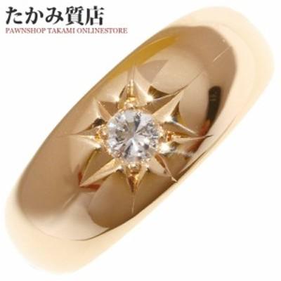 K18PG ダイヤ0.15ct 指輪(リング) 月甲 13.5号