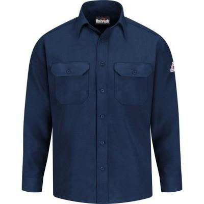 ブラウァーク シャツ トップス メンズ Bulwark Men's Lightweight Nomex FR Uniform Shirt Navy