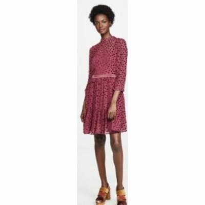 レベッカ テイラー Rebecca Taylor レディース ワンピース ワンピース・ドレス Long Sleeve Velvet Dot Dress Wine