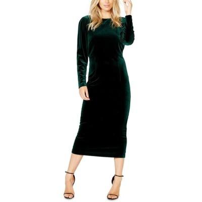 バードット ワンピース トップス レディース Kalani Velvet Bodycon Dress Dark Green