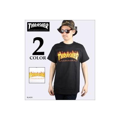 THRASHER スラッシャー Tシャツ FLAME LOGO T-SHIRT 110102 レビューを書いて(ステッカー×1枚)をもらう  メンズ