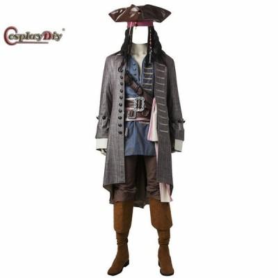 高品質 高級コスプレ衣装 パイレーツ・オブ・カリビアン 風 ジャック・スパロウ タイプ Pirates of the Carib