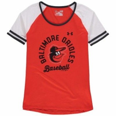 Under Armour アンダー アーマー スポーツ用品  Under Armour Baltimore Orioles Girls Youth Orange/White Baseball Half-Sleeve T-Shir