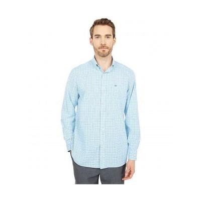 Southern Tide メンズ 男性用 ファッション ボタンシャツ Skipjack Multi-Check Sport Shirt - Boat Blue
