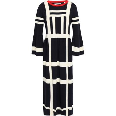 チンティ・アンド・パーカー CHINTI & PARKER 7分丈ワンピース・ドレス ダークブルー XS コットン 100% 7分丈ワンピース・ドレス
