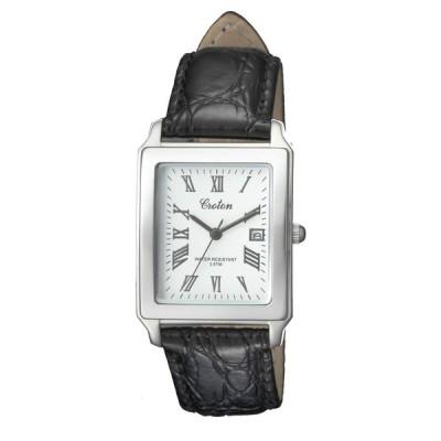 CROTON(クロトン)スクエアクォーツデイト メンズ腕時計 RT-158M-CA