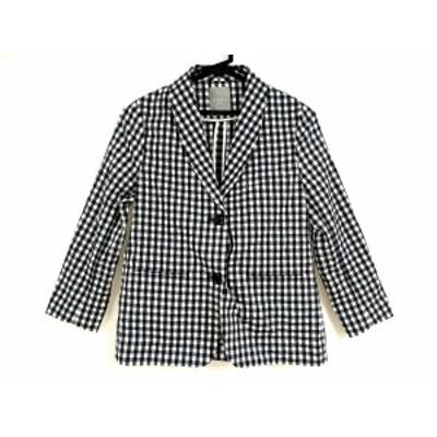 ダーマコレクション DAMAcollection ジャケット サイズ11AR M レディース - 白×黒 長袖/チェック柄/春【中古】20201022