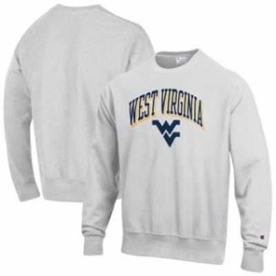 Champion チャンピオン スポーツ用品  Champion West Virginia Mountaineers Gray Arch Over Logo Reverse Weave Pullover S