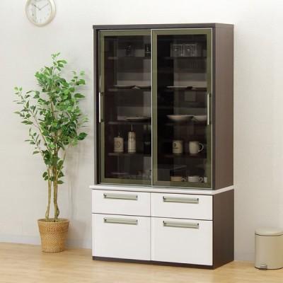 食器棚 ダイニングボード キッチン収納 完成品 幅100cm 引き戸 おしゃれ
