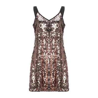 ICONA by KAOS ミニワンピース&ドレス ブラウン 44 ポリエステル 100% ミニワンピース&ドレス