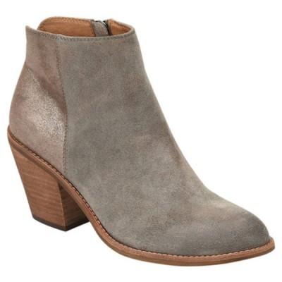 ソフト ブーツ&レインブーツ シューズ レディース Tilton Heeled Bootie (Women's) Grey Oiled Cow Suede/Smooth Leather