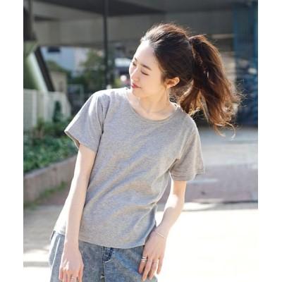 (zootie/ズーティー)汗しみない Tシャツ[スタンダード]/レディース 杢グレー
