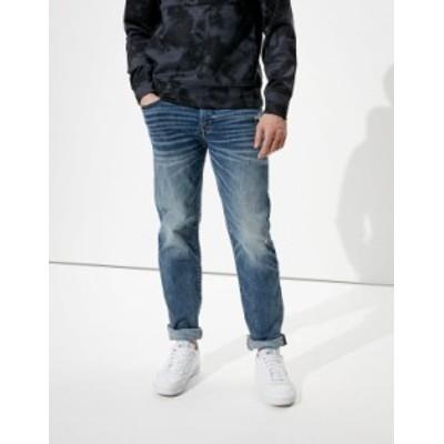 アメリカンイーグル メンズ デニムパンツ ボトムス AE AirFlex+ Original Straight Jean Destroyed Dark Wash