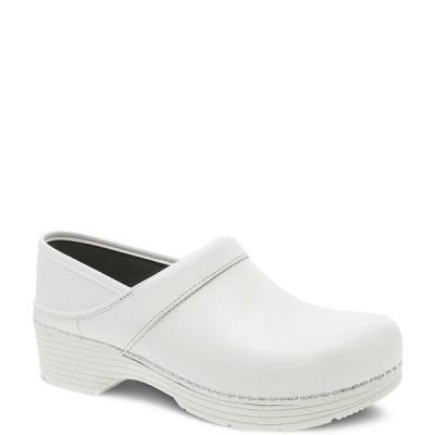 ダンスコ レディース サンダル シューズ LT Pro Leather Clogs White Box