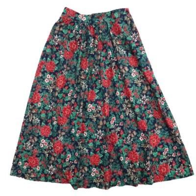 レディース USA製 ORVIS オービス 総柄 花柄 スカート ロングスカート サイズ表記:10