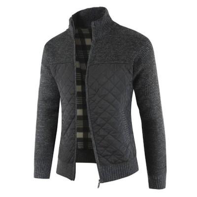 メンズ ニットジャケット あったか ニット セーター カーディガン コート アウター カジュアル M-3XL