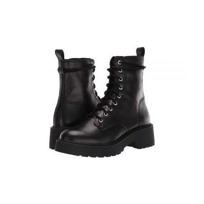 Steve Madden スティーブマデン レディース 女性用 シューズ 靴 ブーツ レースアップ 編み上げ Tornado Boot - Black Leather