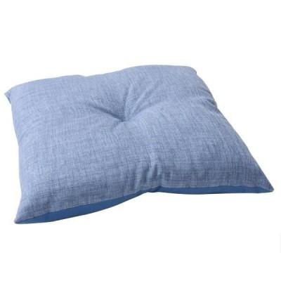 フロアクッション 『モカ』 ブルー 約53×53cm  9296639    キャンセル返品不可 他の商品と同梱・同時購入不可