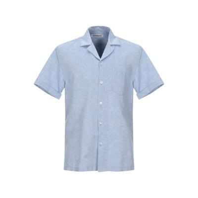 ビッケンバーグ BIKKEMBERGS シャツ スカイブルー 46 麻 55% / コットン 45% シャツ