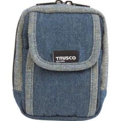 トラスコ中山 デニム携帯電話用ケース 2ポケット ブルー ツールホルダ TDC-H101 【返品種別B】