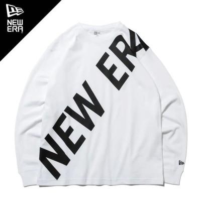ニューエラ 長袖 コットン Tシャツ ズームアップ ニューエラ ホワイト × ブラック レギュラーフィット 12542677