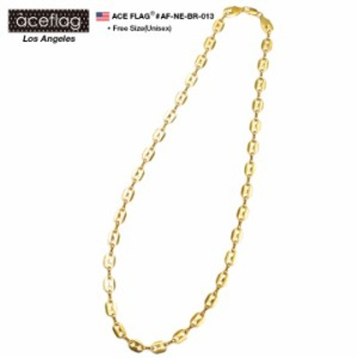 ACEFLAG 【AF-NE-BR-013】13-5ゴールドカラーネックレス【ロロマリーナチェーン76cmタイプ】 アクセサリー チェーン ネックレス サイズ