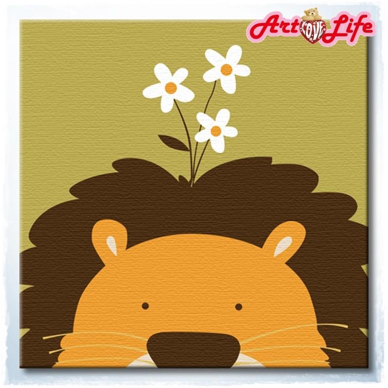 ArtLife 藝術生活 現貨 DIY 數字 油畫  22008 獅子 20X20cm