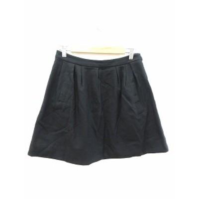 【中古】アナトリエ ANATELIER スカート フレア ミニ ウール 38 黒 ブラック /CT レディース