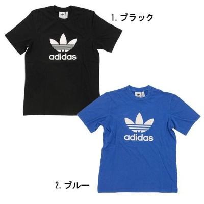 【2色展開】adidas Originals アディダス オリジナルス TREFOIL T-SHIRT CW0709 / CW0703 ブラック / ブルー メンズ トレフォイル Tシャツ トップス クルーネ