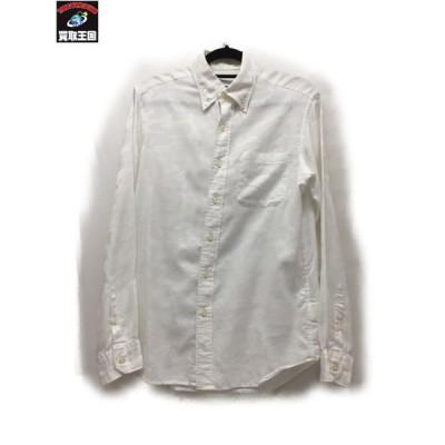 SOPHNET. L/S BDシャツ カモフラ SizeS WHT ソフネット 長袖シャツ 迷彩 カモフラージュ[▼]